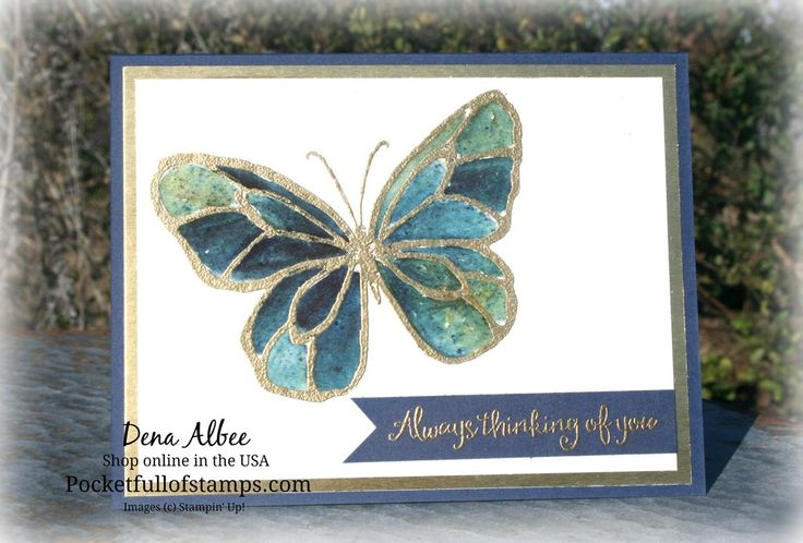 Stampin' Up! Beautiful Day - I love the combination of the Beautiful Day stamp set and Brusho color crystals!