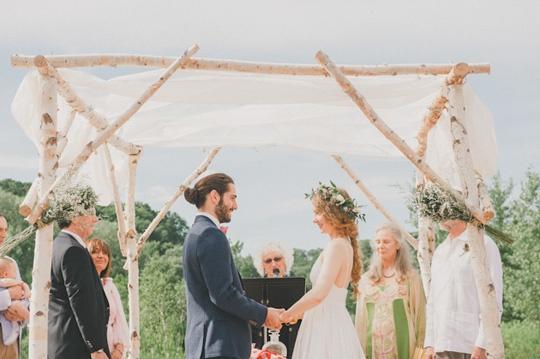 Wedding Ceremony at the Evergreen Brick Works