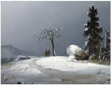 Peder Balke, Mennesker i vinterlandskap