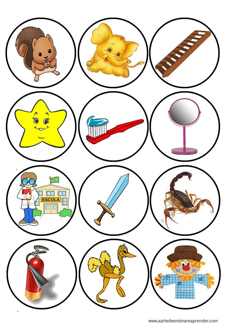 Jogo pedagógico para ensino das vogais maiúsculas e minúsculas, bastão e cursiva.   Para exercitar a identificação dos sons ...                                                                                                                                                                                 Mais