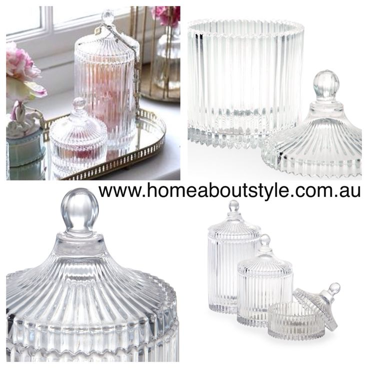 The Elizabeth ribbed jars are full of nostalgic charm!! A beautiful addition a coffee table, dressing table or bathroom. Fill them with nick knacks, soaps, bath salts or leave them empty as a decorative accent. 4 sizes available $22-49 for a set of 2 www.homeaboutstyle.com.au jars @home_about_style #homedecor #interiordesign #homeaccessories #homedecoratingideas #homedecorators #beautifulhomes #luxury #stylish #glassjars #amalfihomewares #prettythings #pickoftheday #homeaboutstyle