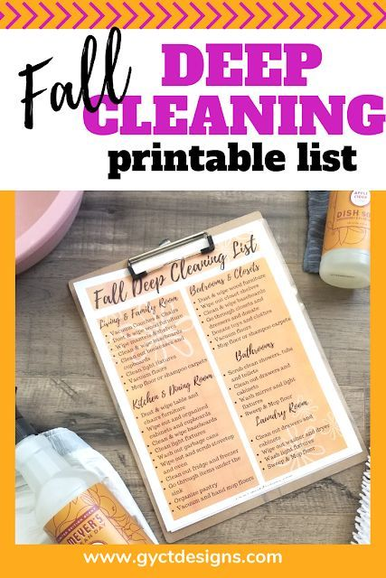 Quick And Easy Fall Deep Cleaning Checklist Gyct Designs Blog