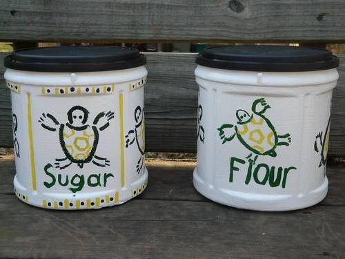 Folgers Containers to Cute Canisters! - How Crafty!