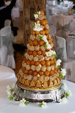 Le Papillon Patisserie - Croquembouche and Fresh Flowers, Wedding Cake