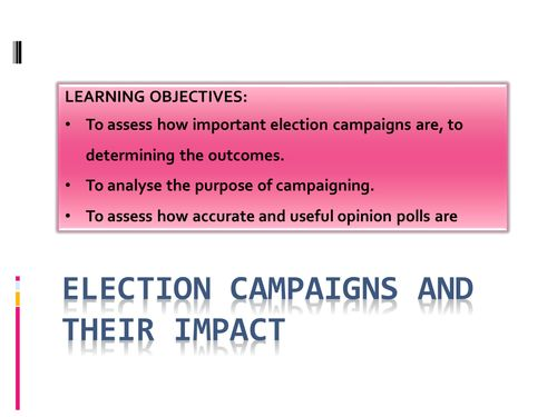 "UK Elections and Opinion Polls  ""Lesson on Politics"" ""high school"""""