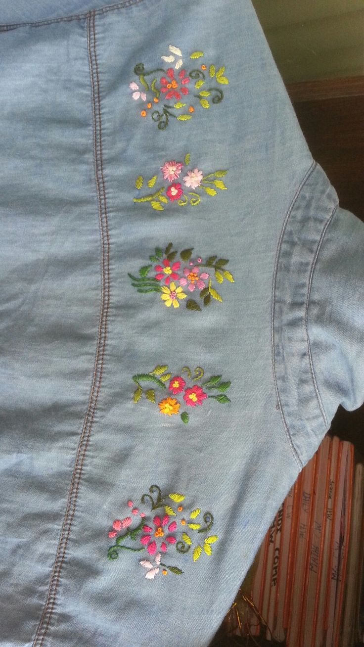 Its my daughter's shirt who love embroidery. .so i made this for her..hand embroidery