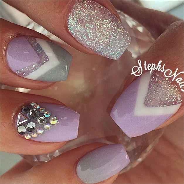 Stephanie Loesch @_stephsnails_ #purple#lavender#...Instagram photo | Websta (Webstagram)