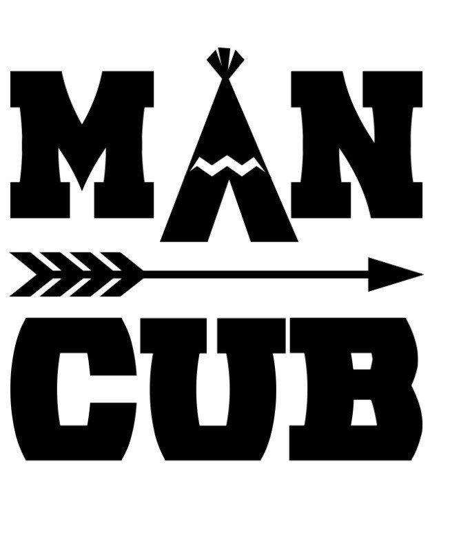Man cub iron on shirt transfer decal by PiecesOfHart on Etsy https://www.etsy.com/listing/271056533/man-cub-iron-on-shirt-transfer-decal