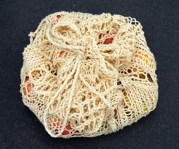 Knitting Pattern: Spring Leaves Market Bag  Instant PDF
