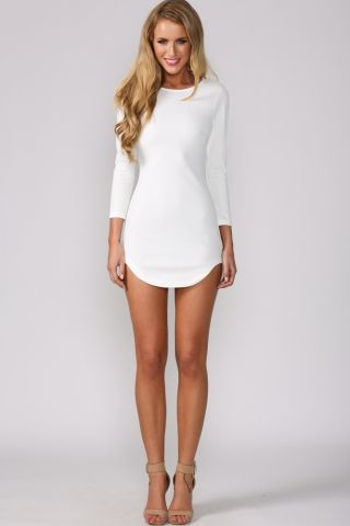 Hellomolly smoothie dress white party dresses - White dress party ...