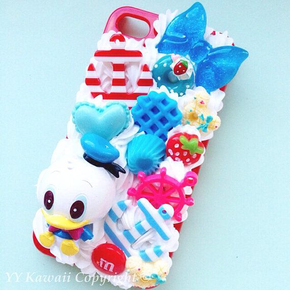 Aangepaste Donald Duck snoep en chocolade decoden telefoon case voor iPhone 4/4s 5, Samsung Galaxy S2 S3 S4 Mini en Opmerking