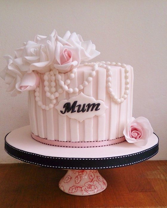 Birthday Cake Fondant For Mom Image Inspiration of Cake and