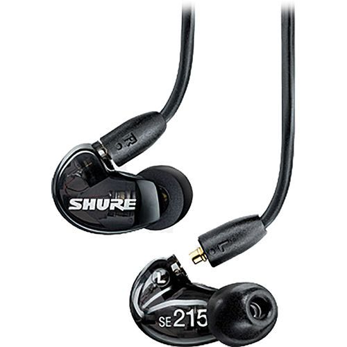 Shure SE215-K Black Sound Isolating In-Ear DJ Monitoring Headphones/Earphones
