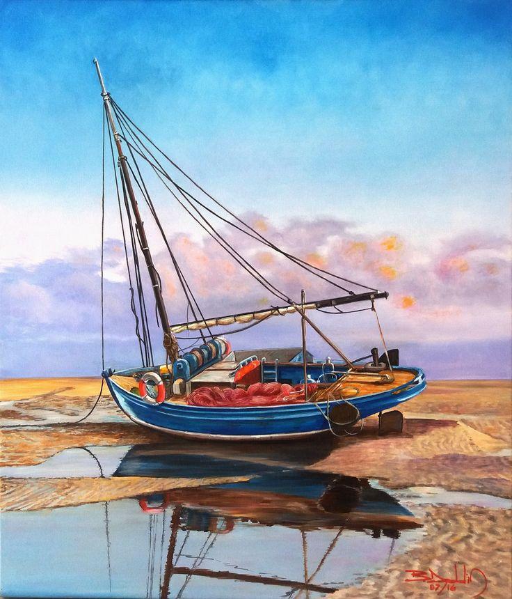Marina (reposo) óleo sobre tela lino dee 60 x 70 cms ORIGINAL.