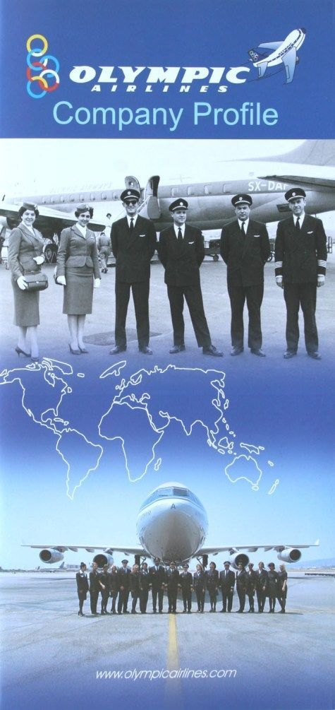 Olympic Airways, company profile 2000s with route maps