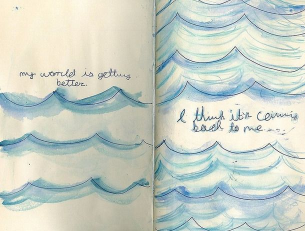 ocean wave drawing tumblr ocean waves art | Into the blue ...