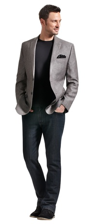 1000  images about Grey Blazer on Pinterest | Navy jeans Calvin