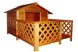 The Mansion X-Large Wood Dog House - she'd be in puppy heaven!!