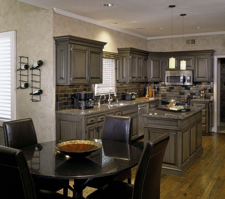 pickled cabinets kitchen | pickled wood kitchen cabinets ...