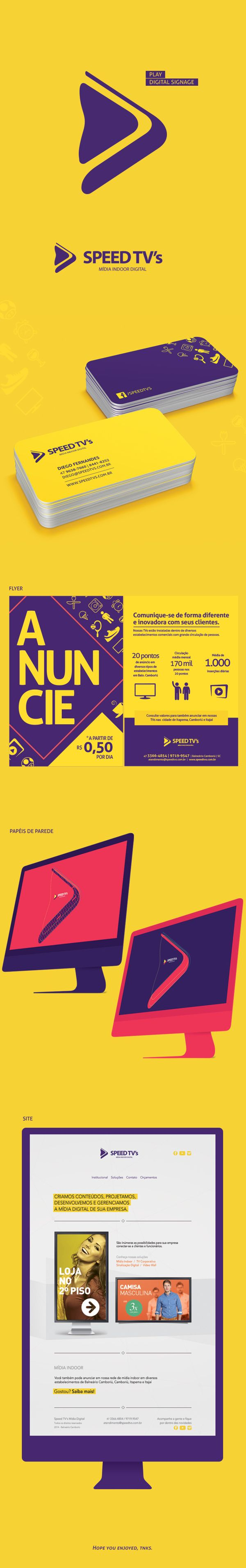 Speed TV's - Mídia Indoor Digital by Dalvan Fernandes, via Behance