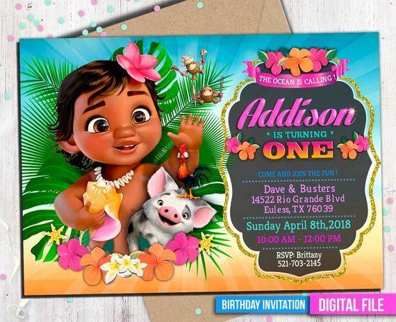 moana birthday invitation template