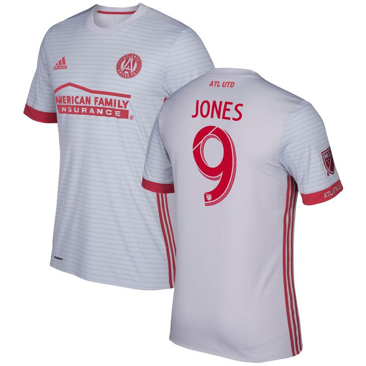 Kenwyne Jones Atlanta United FC adidas 2017 Secondary Authentic Jersey - Gray/Red