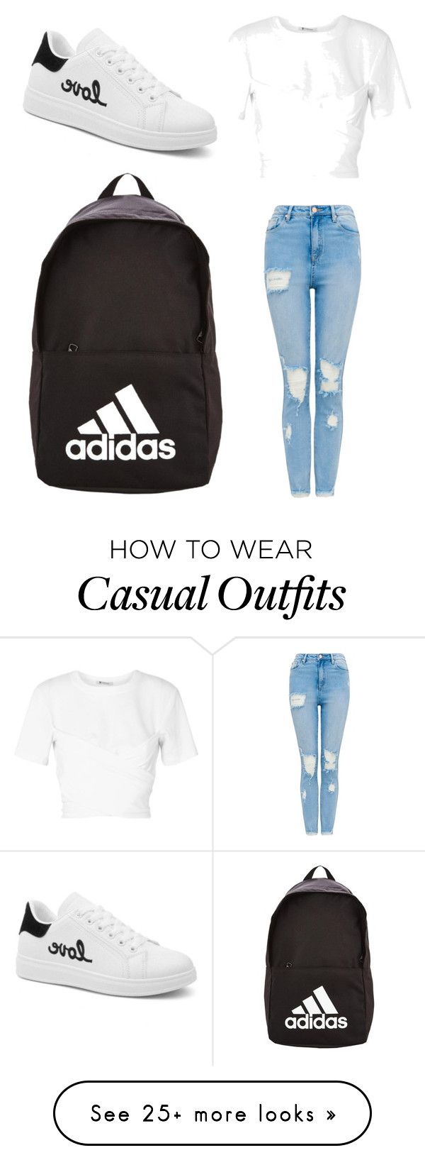 """Casual Look"" by uglyoutfitsforlifeu on Polyvore featuring T By Alexander Wang and adidas"