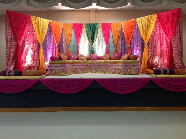 Sangeet wedding decor. Also great for Garba decor, Indian wedding decor by…