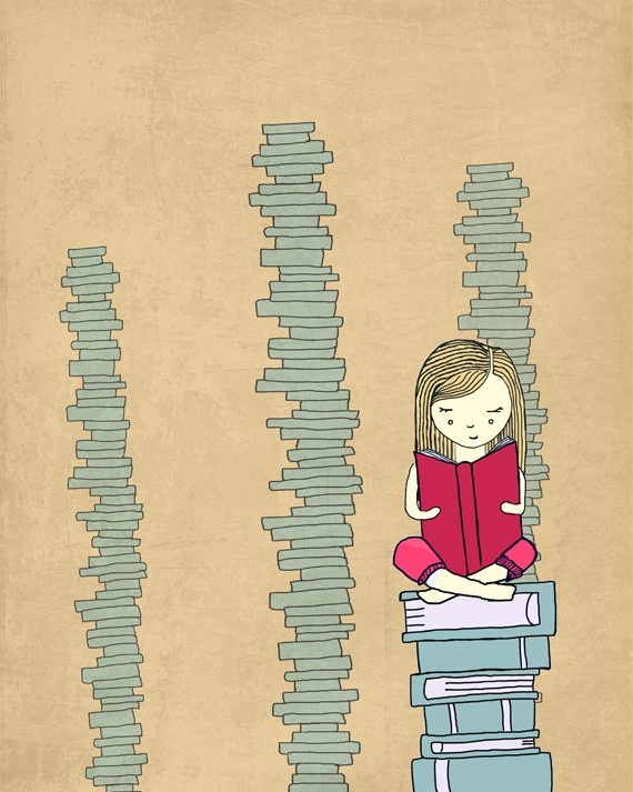 Even though I do not imagine my self sitting on books, still, this's so me when I read ^_^""