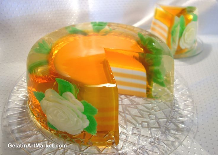 Cake Recipes With Gelatin: Flowers Drawn In Gelatin Http