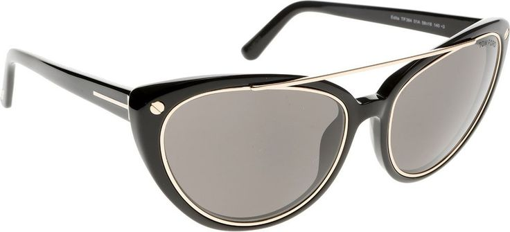 Tom Ford Tom Ford Women's Sunglasses Ft0384, black, 58. Made in Italy. Fashion sunglasses. Black.