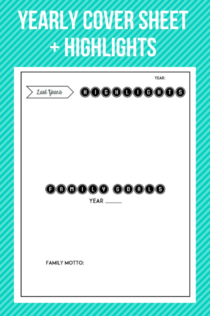 Printable New Years Goals Worksheets Family Resolutions