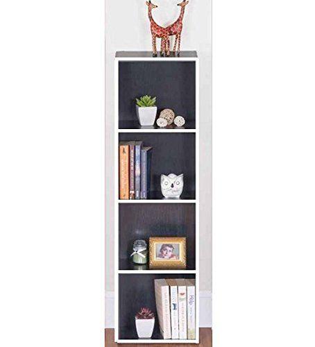 wooden bookcase furniture storage shelves shelving unit. 4 TIER BLACK WOODEN BOOKCASE STORAGE SHELVING DISPLAY SHELF UNIT BEDROOM  LOUNGE FURNITURE Wooden Bookcase Furniture Storage Shelves Shelving Unit P
