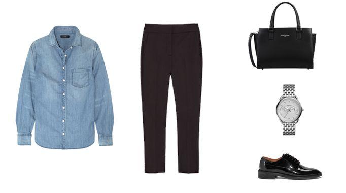 1000 id es sur le th me chemises en jean sur pinterest - Comment porter la chemise en jean femme ...