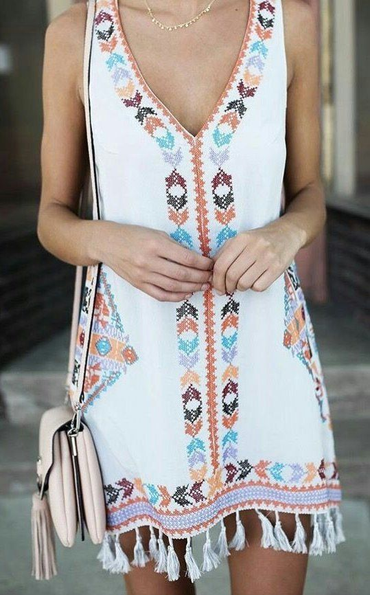 Cute fringe dress! Perfect dress for a summer Sunday Funday!