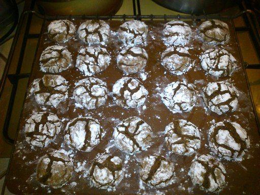 Crinkles au chocolat - Recette de cuisine Marmiton : une recette