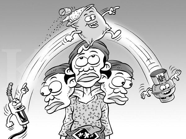 Kartun Benny, Kontan - Maret 2015: Harga Barang Antre Naik