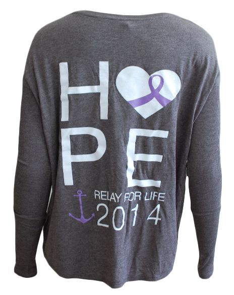 Delta gamma relay for life long sleeve adam block design for Relay for life t shirt designs