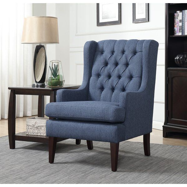 Ajrie 29 Wide Wingback Chair In 2021 Blue Accent Chairs Oversized Chair Living Room Leather Dining Room Chairs Living room chairs for sale