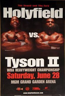 June 28, 1997 – Holyfield–Tyson II – Mike Tyson is disqualified in the 3rd round for biting a piece off Evander Holyfield's ear.   Read more... #Boxing #WBA