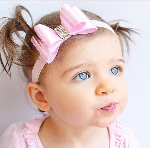 Pink Bow Headband Toddler Bow Headband by LilMajestyBoutique