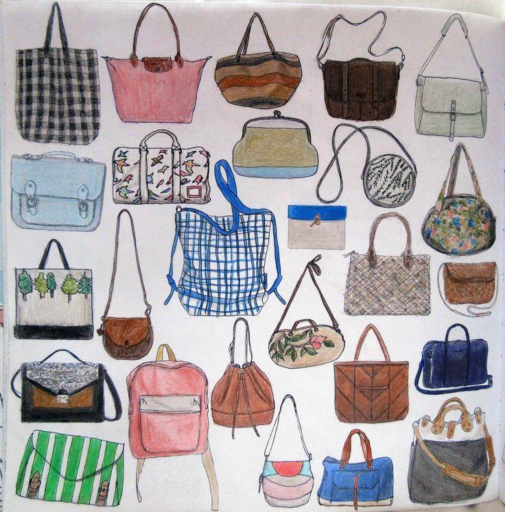 Zoe De Las Cases Secret Paris Colouring Book Bags By Michelle