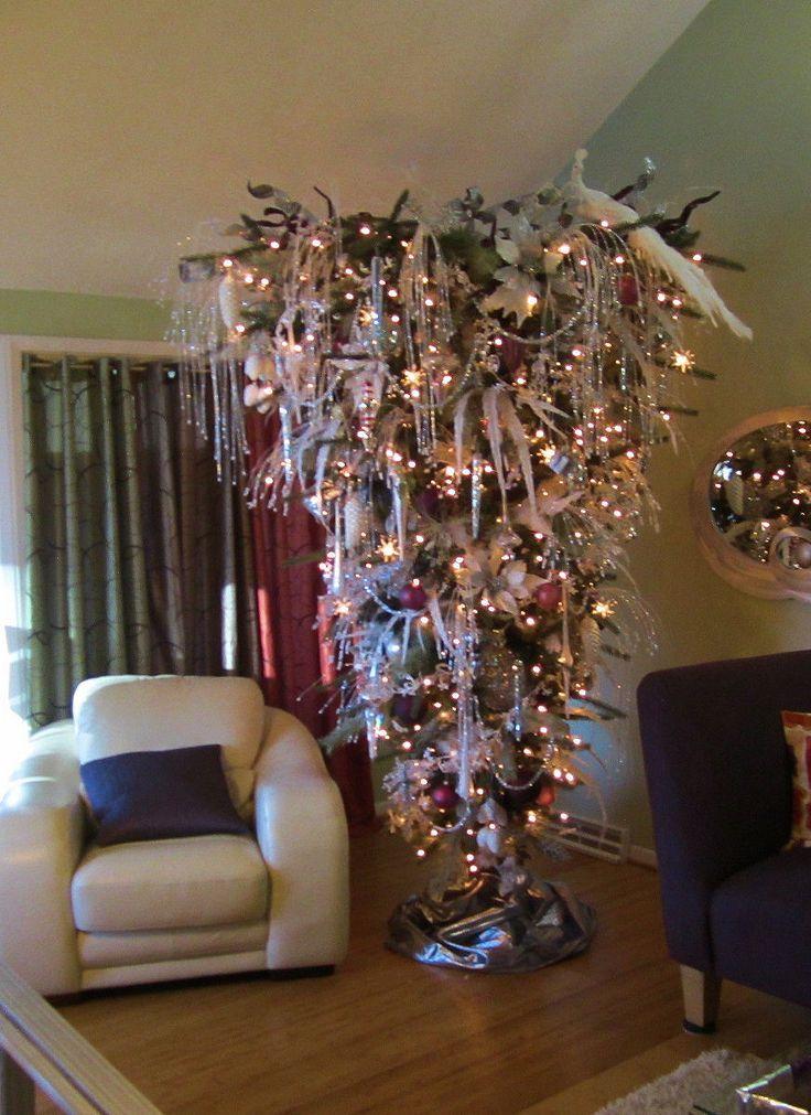 Best 25 Upside Down Christmas Tree Ideas On Pinterest Small Christmas Trees Scan Upside Down Christmas Tree Corner Christmas Tree Whimsical Christmas Trees