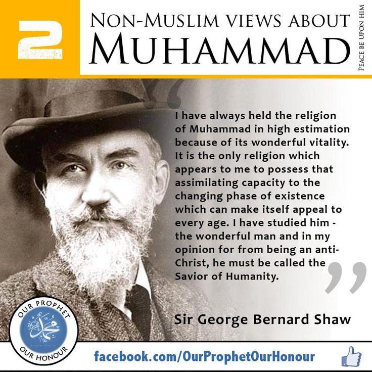 George Bernard Shaw's take on Muhammad s.a.w.