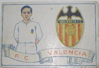 F.C. Valencia. Temporada 1928-29. Cromos Amatler.