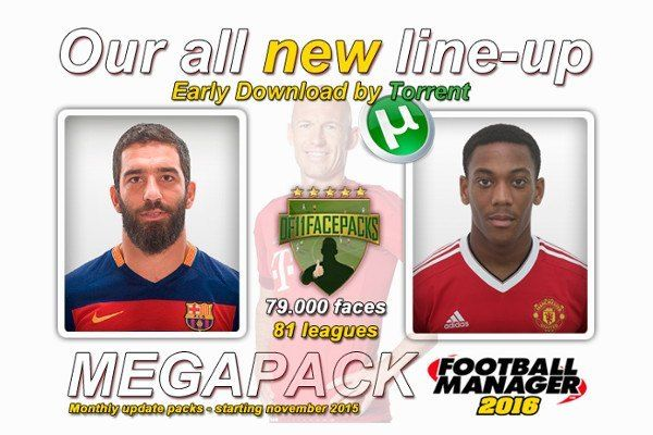 Download DF11 Football Manager 2016 Facepack - the best Football Manager graphics. The Football Manager DF11 Facepacks contains over 79000 faces for FM16