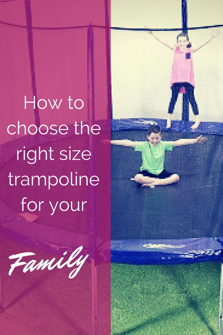 don't be disappointed in the trampoline you buy - find out how to decide which trampoline size and shape is right for your family.