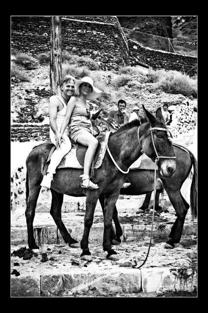 #donkey ride, #Santorini