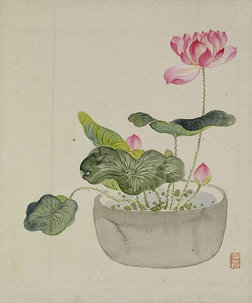 File:Yoshizawa Setsuan - Leaf from Album Depicting Birds, Flowers, Landscapes, and Flower Pots - Walters 3517410B.jpg