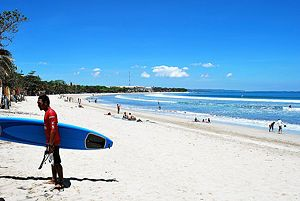 Fantastic surf and beaches, Kuta is southern Bali's most popular holiday destination.